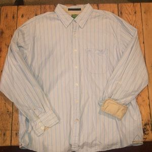 Timberland Light Blue/White Striped Dress Shirt
